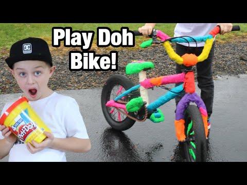 Riding a Play Doh bike?!