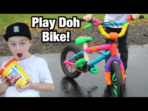Riding A Play Doh Bike?!