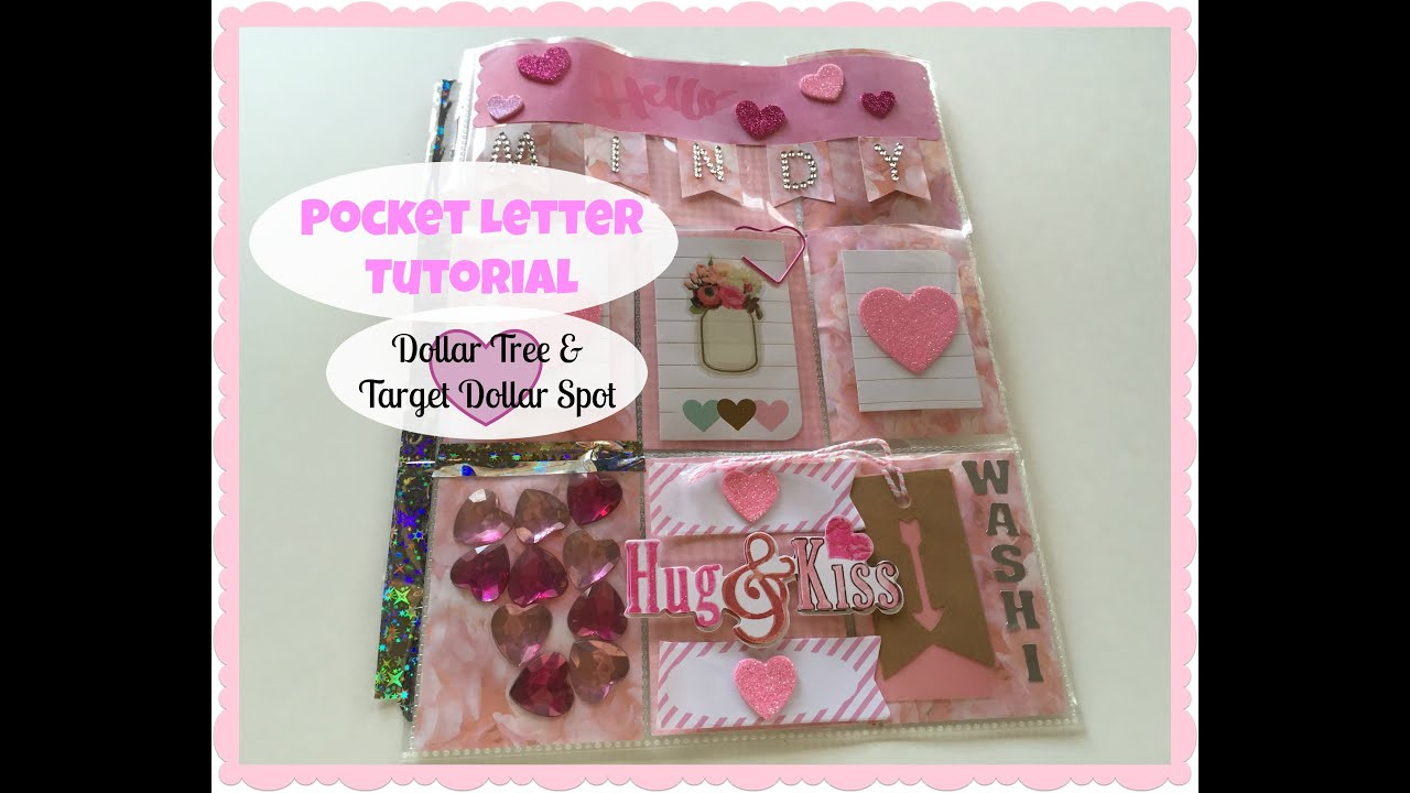 POCKET LETTER Tutorial  Valentines Day Theme 2016  YouTube