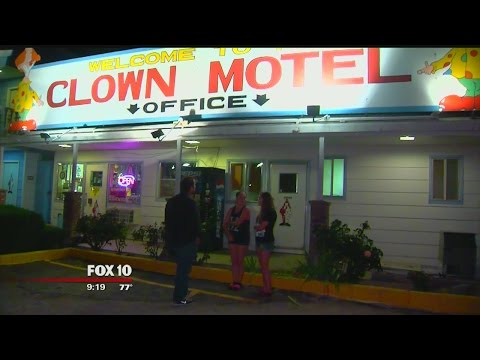 Inside Tonopah's famous Clown Motel