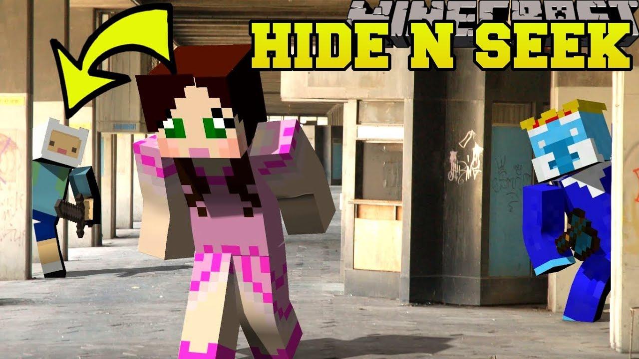Download Minecraft: ADVENTURE TIME HIDE AND SEEK!! - Morph Hide And Seek - Modded Mini-Game