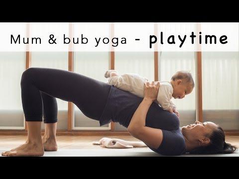 Mum & bub yoga playtime
