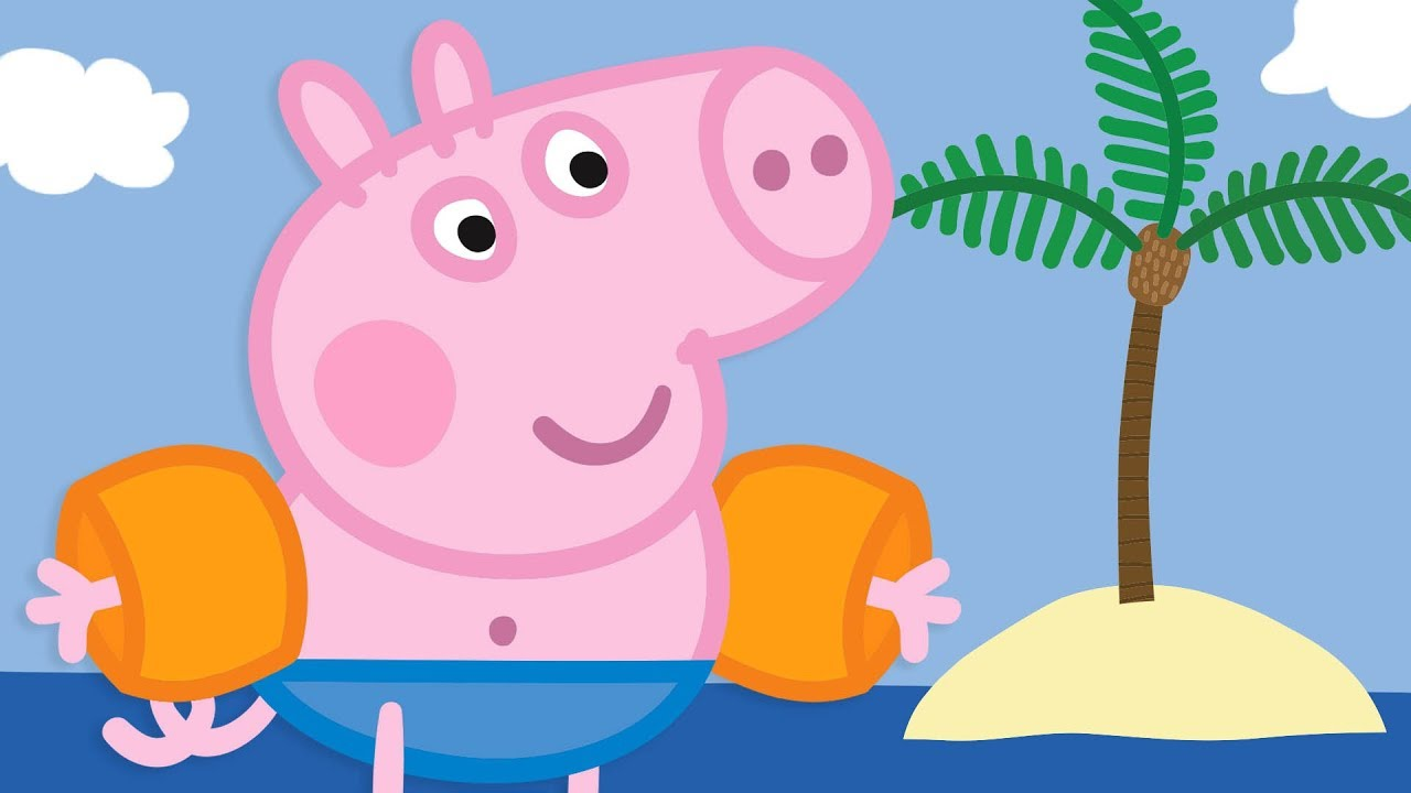 Peppa Pig Portugues Brasil George Na Praia Hd Desenhos