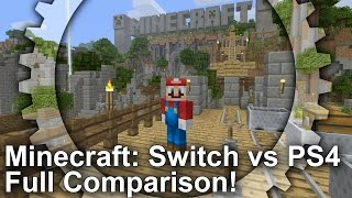 Minecraft Switch Vs Ps4 Graphics Comparison Frame Rate Test Youtube