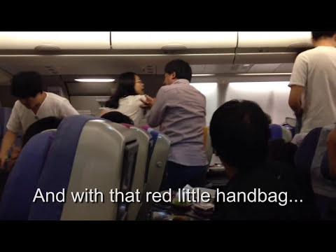 Chinese Airplane Fight (With Accurate Subtitles)