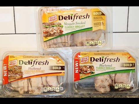Oscar Mayer Deli Fresh Mesquite Smoked Turkey Breast, Blackened Chicken & Turkey Breast Review