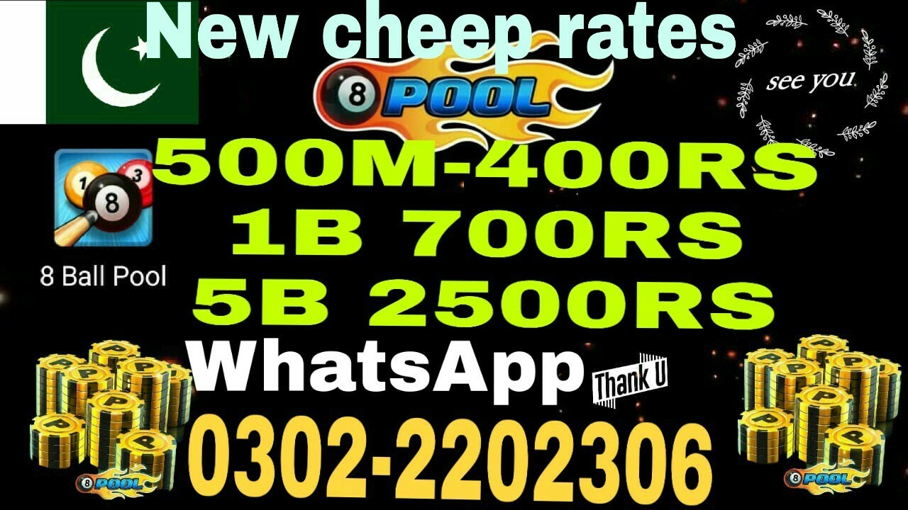 8 Ball Pool- Coin Seller In Pakistan On Cheap Rates -
