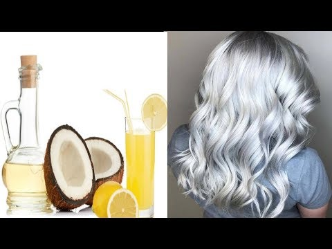 Coconut Oil And Lemon Mixture It Turns Gray Hair Back To Its Natural Color!