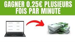 Gagner 0,25€ en illimité sur internet (Méthode gratuite - Cam tv)