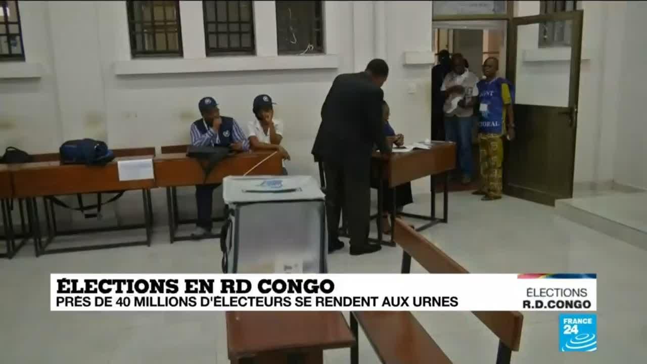 Ouverture des bureaux de vote en rd congo youtube