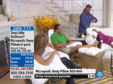 Tony Little DeStress Micropedic Sleep Pillows 2-pack - YouTube