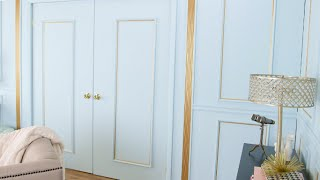 Old Hollywood-Inspired Decorative Molding DIY | Eye on Design