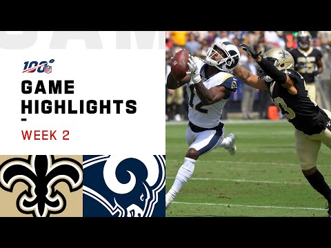 Anne Erickson - Rams vs. Saints Week 2 Highlights!