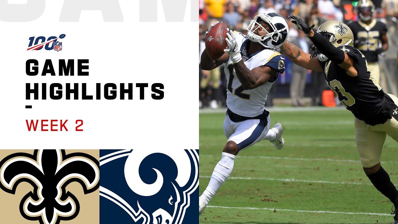 Saints Vs Rams Week 2 Highlights Nfl 2019