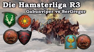 Hamsterliga der 4000   Gabunviper vs SerGregor   Total War Warhammer 2 deutsch HD