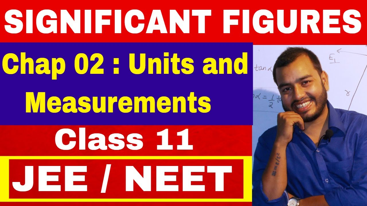 SIGNIFICANT FIGURES || CLASS 11 Chapter 02|| Units and Measurements || JEE  MAINS || NEET