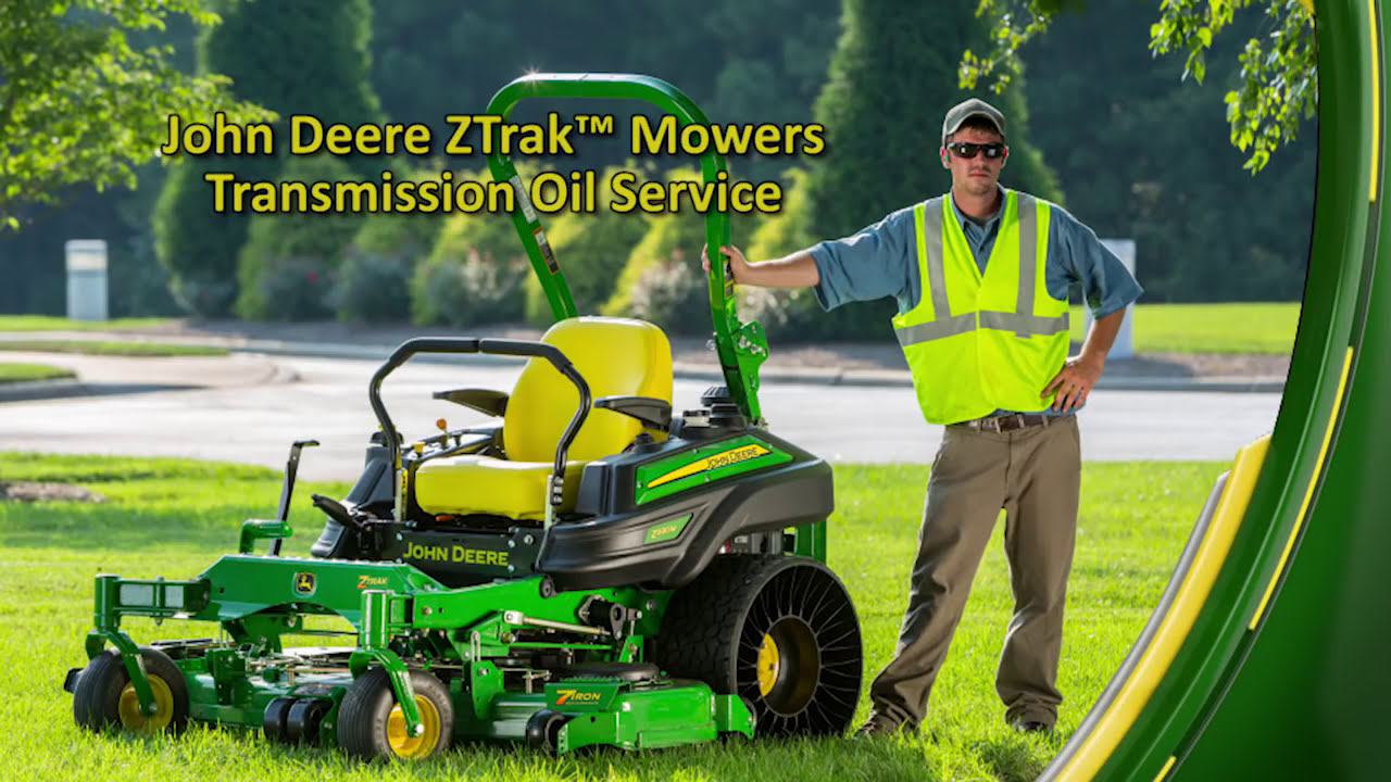 John Deere ZTrak™ Mowers Transmisions and Oil Service  YouTube