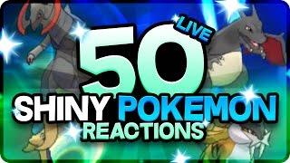 50 HYPE SHINY POKEMON REACTIONS! Pokemon Shiny Montage! 250 Shinies Before Pokemon Sun and Moon!