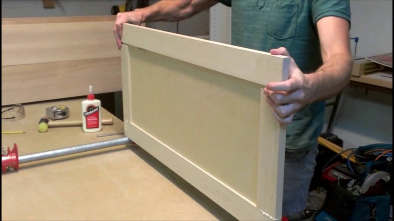 Building A Simple Shaker Style Cabinet Door Youtube
