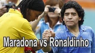Maradona vs Ronaldinho Freestyle Football Skills