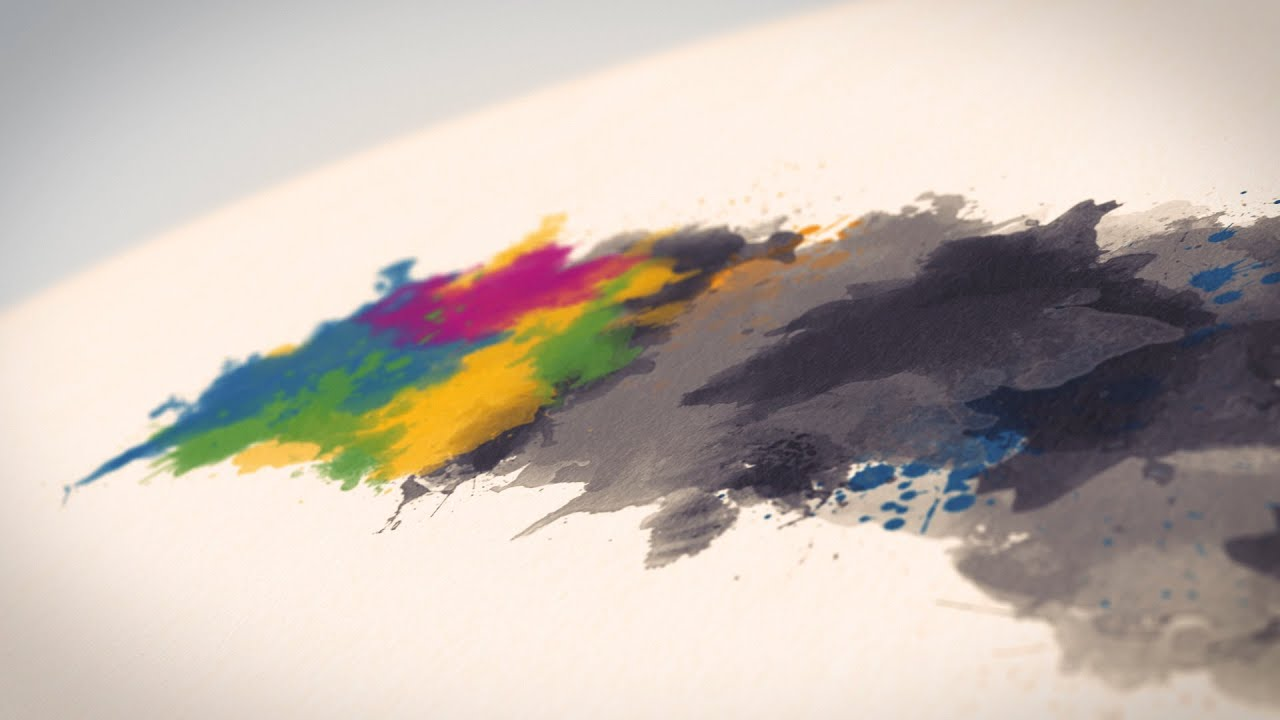 watercolor  u0026 ink logo reveal