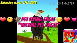 Vitual Pet Eagle App For Android and Apple(Very Adorable😍🦅❤)