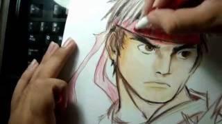 How i draw Ryu