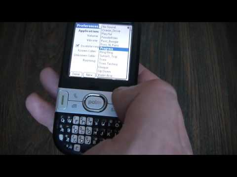 How To Change The Ring Tone On A Palm Centro Smartphone
