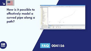 FAQ 004156 | How can a curved pipe along a path be modeled effectively?
