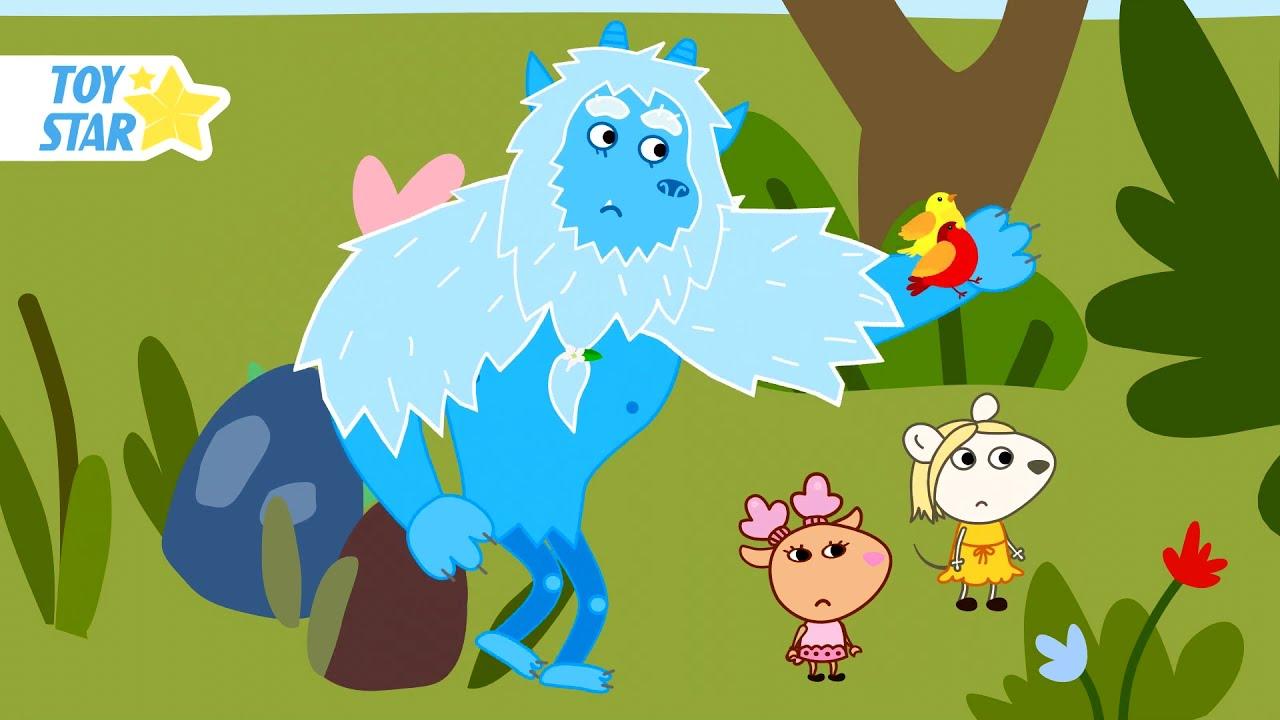 Big Magic Friend and Friends. Funny Cartoon for Kids