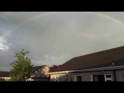 Rainbow Over Scone Village By Perth Perthshire Scotland
