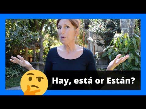 How to use HAY, ESTÁ or ESTÁN in Spanish? | SP Spanish Online