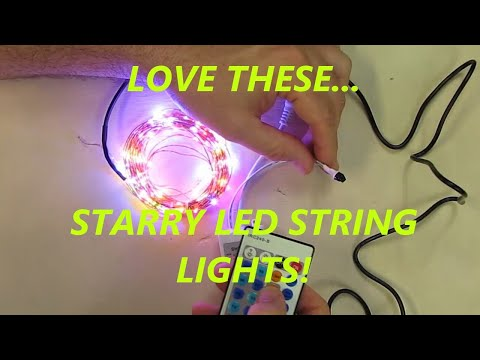 Color LED Starry String Lights with remote controller