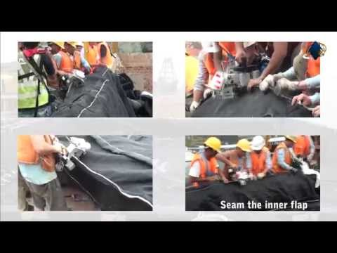ACEContainer® Geotextile Container Installation for Dredged Sediment Disposal