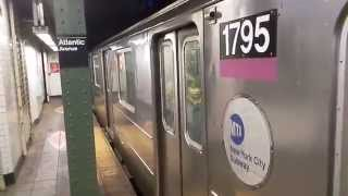Special! Manhattan-bound R62A (4) train leaving Atlantic-Barclays (IRT Eastern Parkway Line)