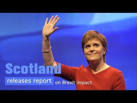 Live: Scotland releases report on Brexit impact苏格兰未来与欧洲关系相关新闻发布会
