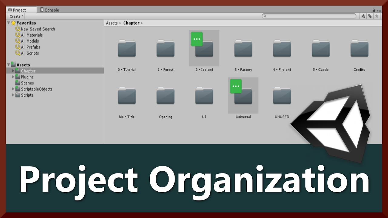 How to Organize Project Asset Folders | 2D Game Development in Unity 5 6