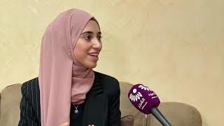 لقاء الطالبة زينة محمد عمير من بلعا الحاصلة على معدل 99.4 الفرع الأدبي