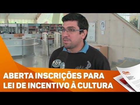 Aberta inscrições para Lei de Incentivo à cultura- TV SOROCABA/SBT
