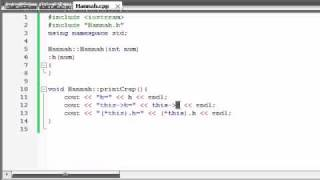 Buckys C++ Programming Tutorials - 49 - this