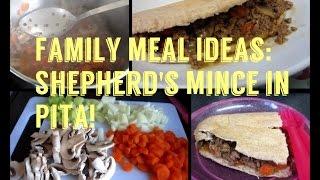 Family Meal Ideas: Shepherd's Mince In Pita