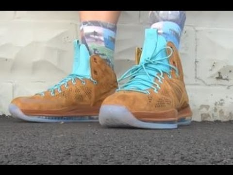 0a4d6c1e3f4 Nike Lebron 10 EXT Hazelnut Brown Suede Scooby Doo Sneaker Review + ...