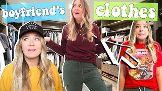 I WORE MY (SKINNY) BOYFRIEND'S CLOTHES FOR A WEEK