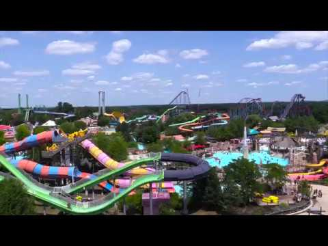 Six Flags New England Hurricane Harbor Water Park - YouTube