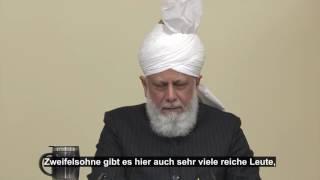 Ansprache - Spenden für die Verbreitung des Islam  / 11.11.2016