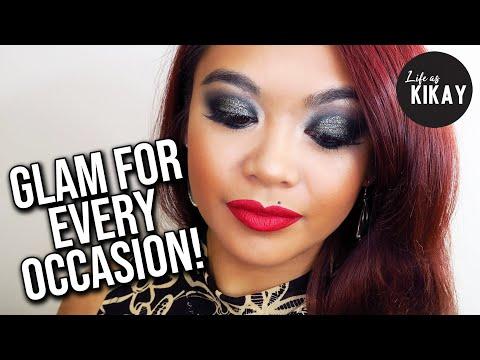 Black Glitter Smokey Eye Makeup Tutorial (Go To Glam Look) thumbnail