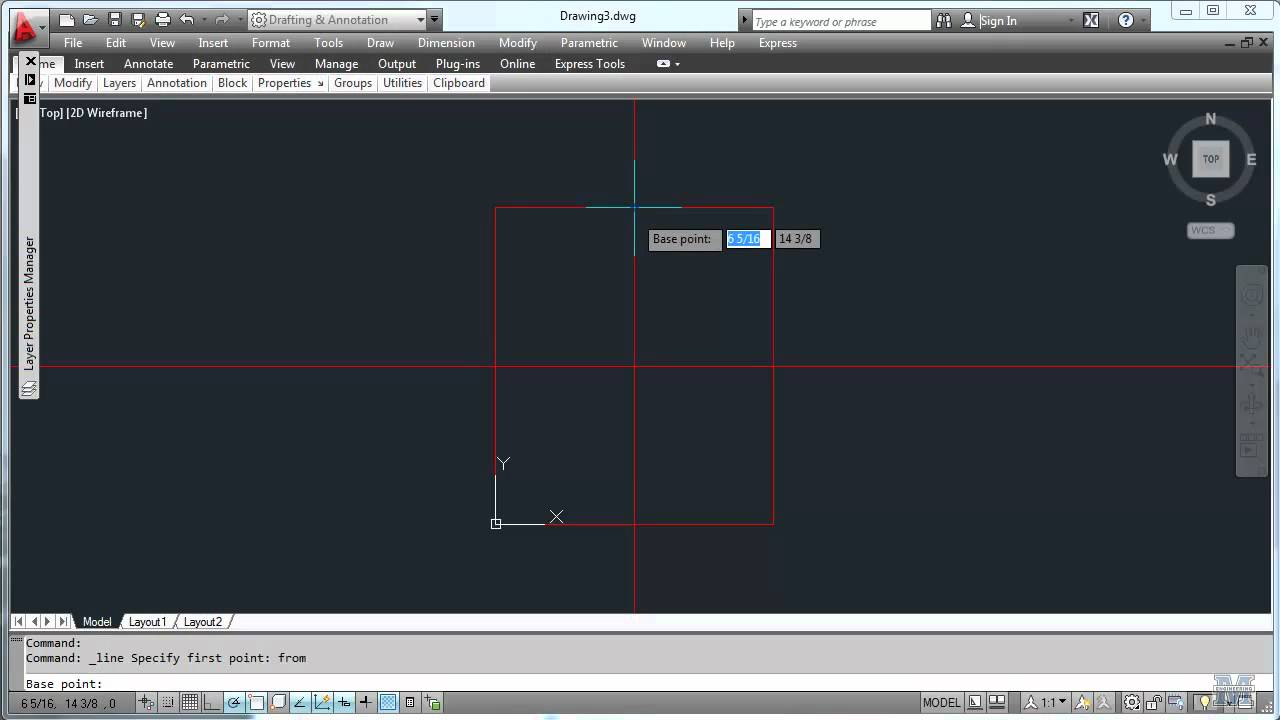 Autocad 06 Drawing A Wide Flange Beam Youtube