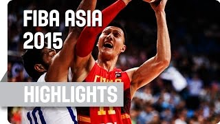 India v China - Quarter Final - Game Highlights - 2015 FIBA Asia Championship