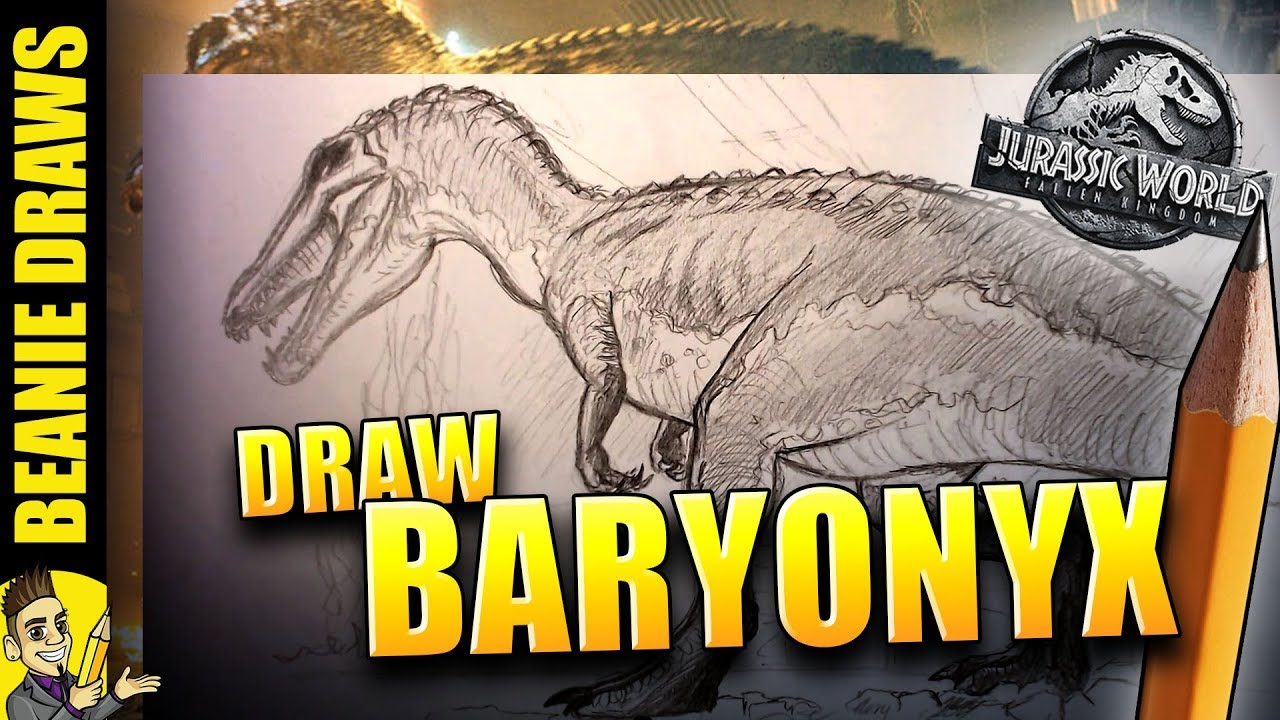 How to Draw Baryonyx from Jurassic World Fallen Kingdom Trailer