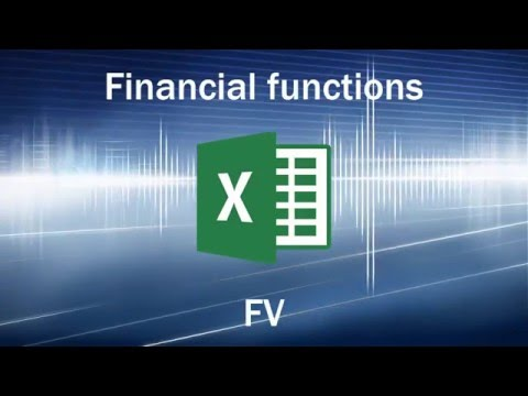 Excel formulas and functions - Future Value (FV)